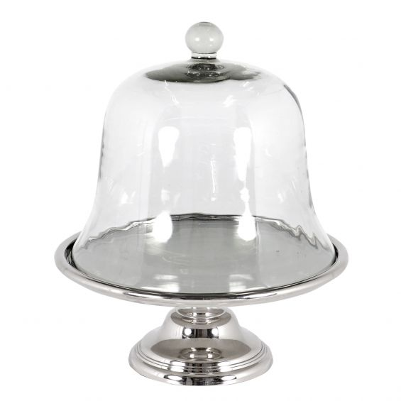 Designer standard cake stand with glass cover