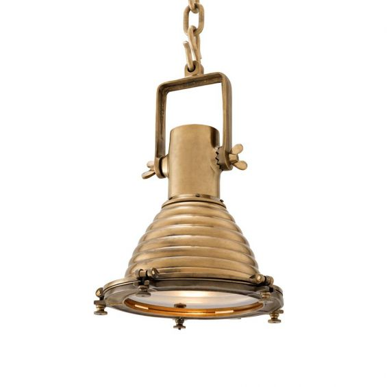 Vintage style pendant with brass finish