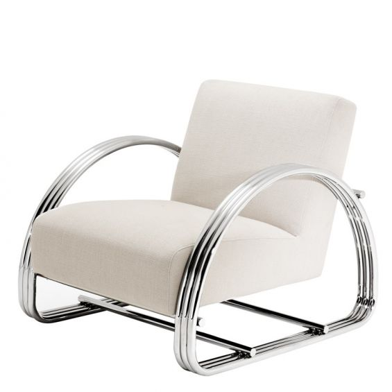 Designer soft natural contemporary lounge chair