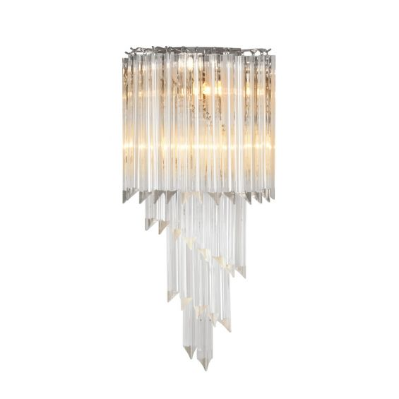 Luxury hanging, layered cut glass detailed wall lamp