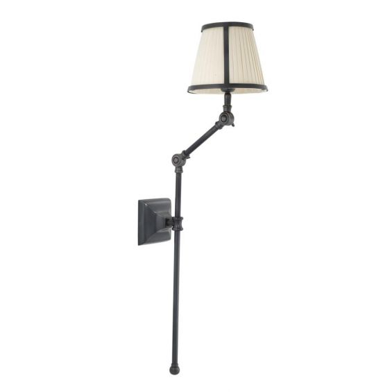 Bronze wall lamp with two pleated shades