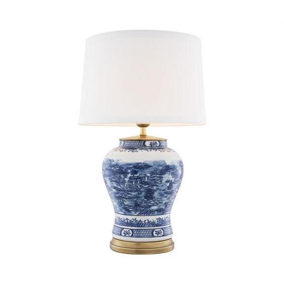 Eichholtz Blue Chinese Table Lamp