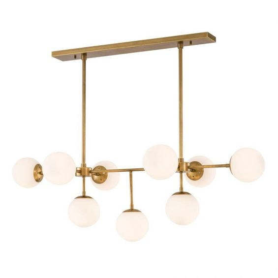 Luxury antique brass chandelier with large bulb design