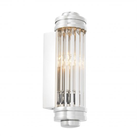 eichholtz ribbed wall lamp with silver details