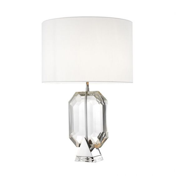 Eichholtz luxury glass table lamp with white shade