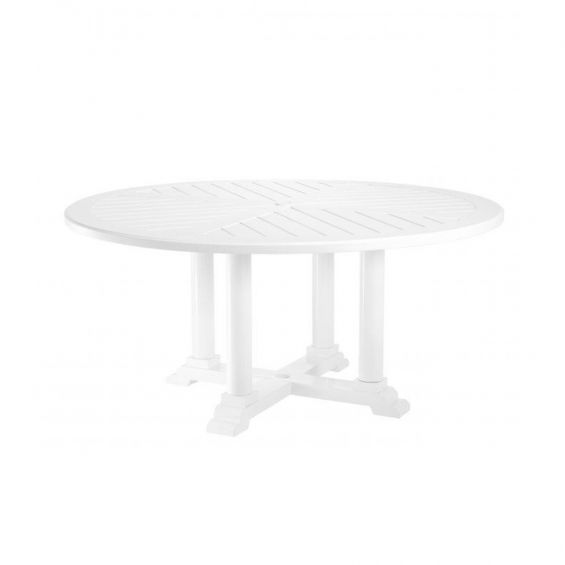 Eichholtz Bell Rive Dining Table Round, Round Plastic Patio Table