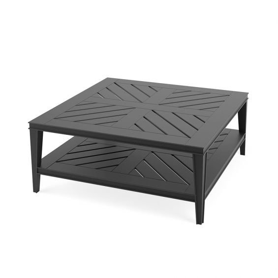 black square outdoor coffee table