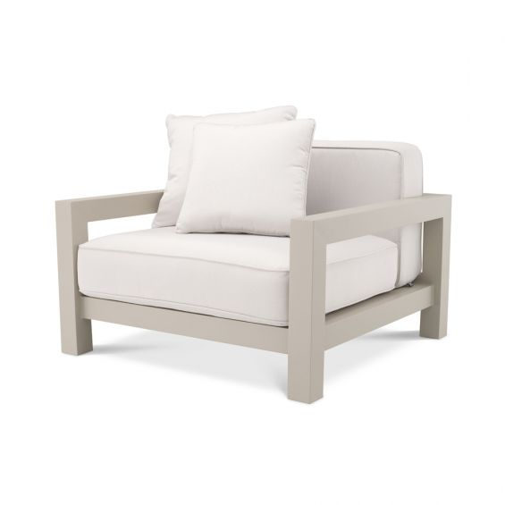 A fabulous sand and natural outdoor armchair