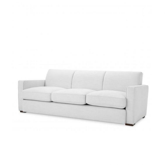 A stunning contemporary sofa with an angular design fabric upholstery
