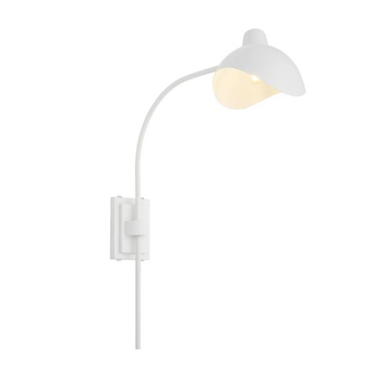 Contemporary industrial white wall lamp