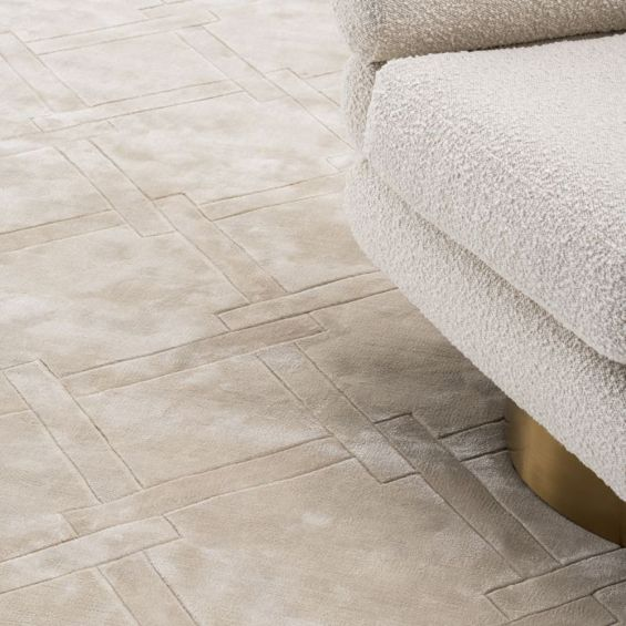 Eichholtz luxurious neutral-toned patterned rug