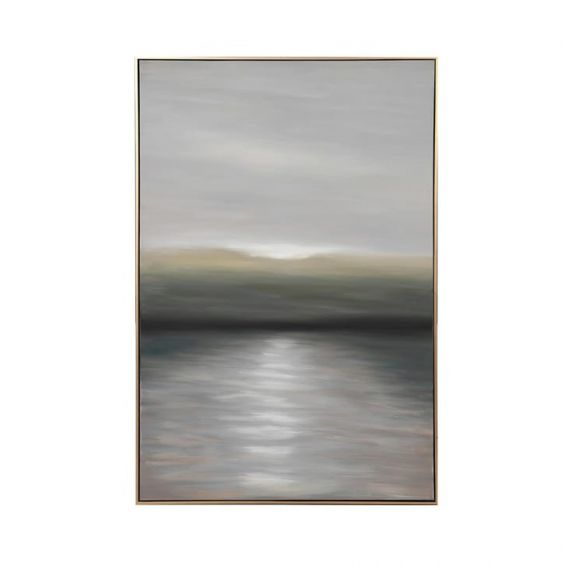 Dusk hand painted canvas with golden edge