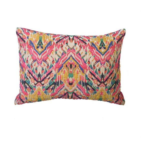 Multicoloured abstract square cushion