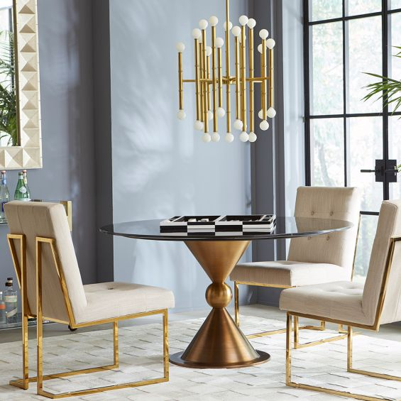 A luxurious bamboo-inspired chandelier