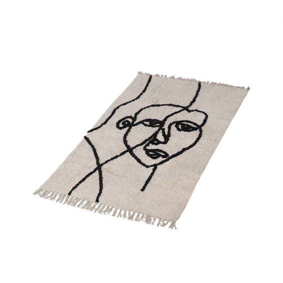 A luxurious, abstract cotton rug