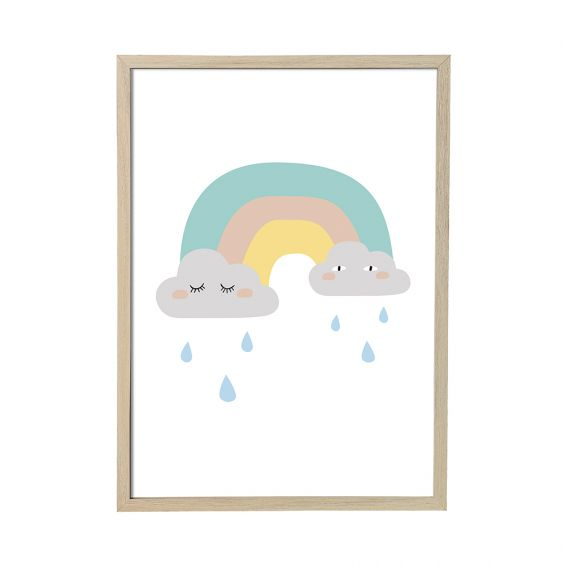 Kids rainbow picture frame