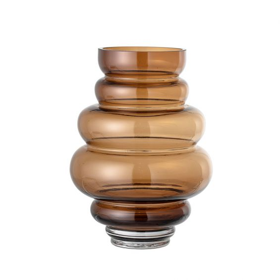 A luxurious brown glass vase