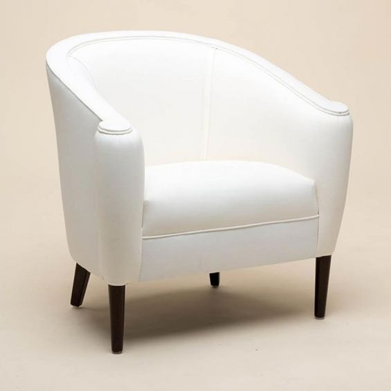Classic armchair with petite thick tapered legs