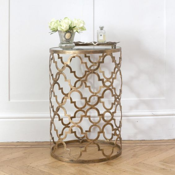 Antique gold cased side table