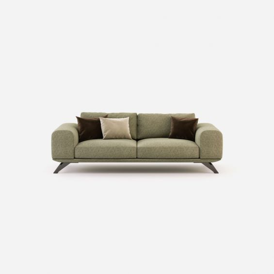 linen upholstered, contemporary style, 3 seater sofa