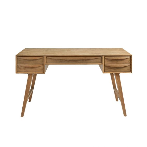 contemporary mid-century inspired weathered natural oak desk