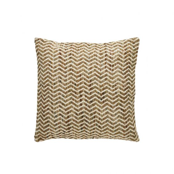 Natural, zig zag patterend cushion