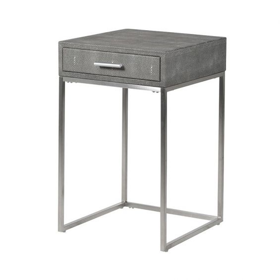 Shagreen Side Table with Drawer