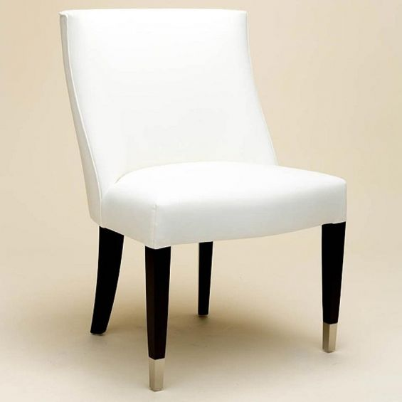 Classic armchair with wooden gold capped legs