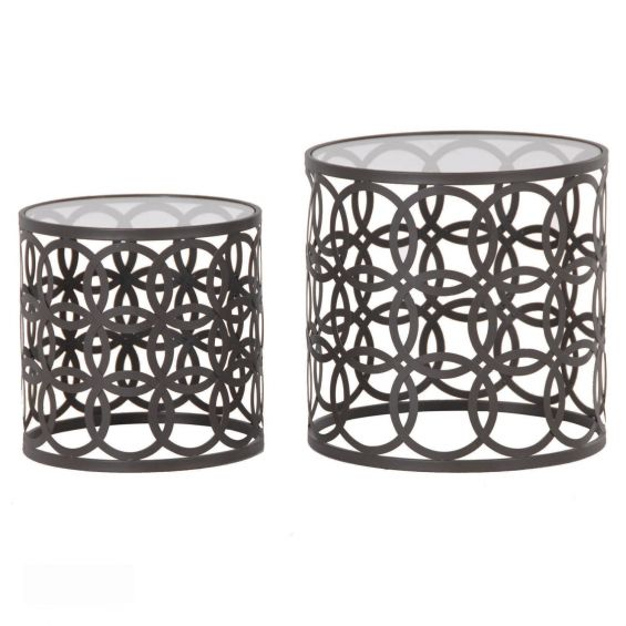 Drum-Nest Side Tables