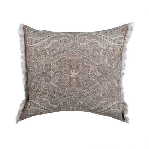 A luxurious elaborate 100% wool cushion cover with a duck feather inner cushion