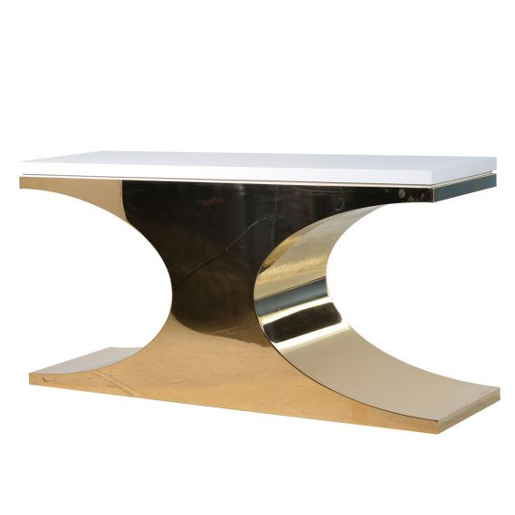 Golden Console Table