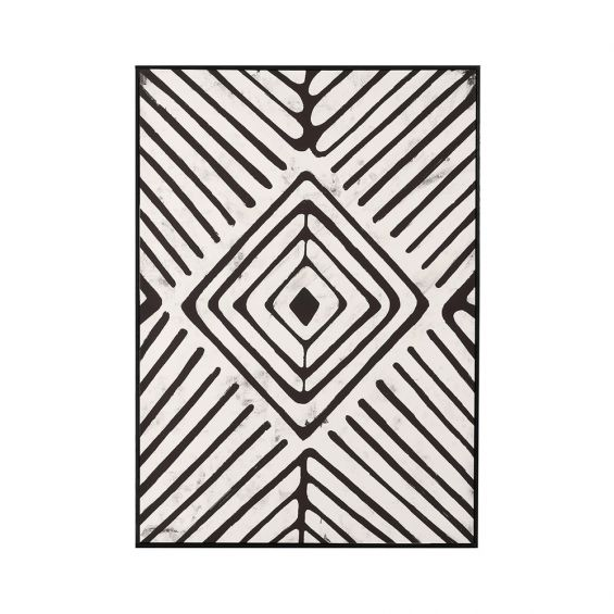 A stunning black and white abstract art piece