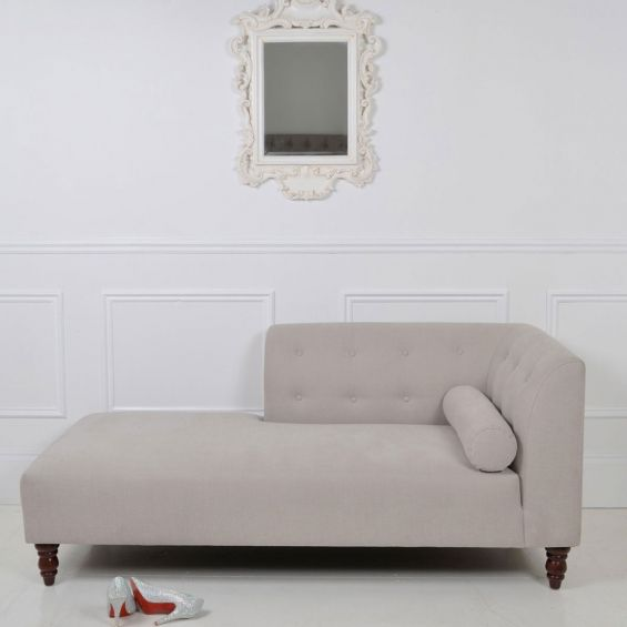 Smooth simplistic shaped chaise longue with decorative dimple design