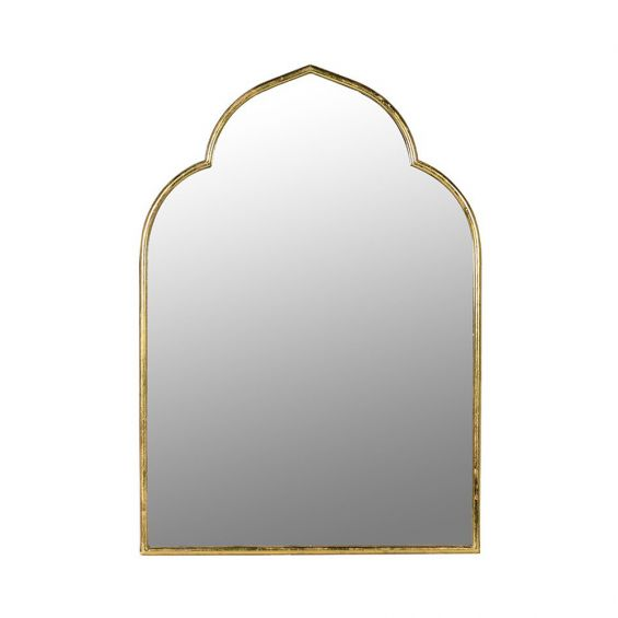 Moroccan-style wall mirror with gold edge