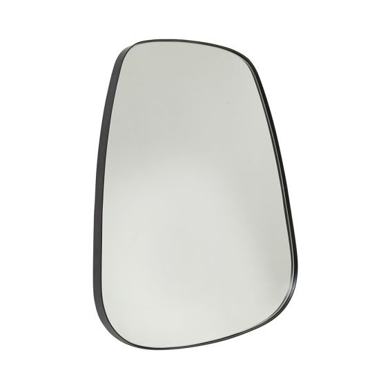 Stylish black large wall mirror with curved edges