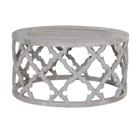 Distressed wood decorative coffee table