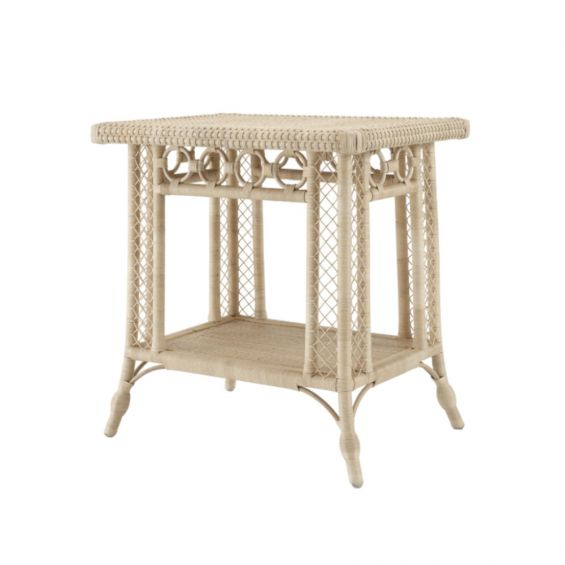 Bohemian style, natural rattan side table