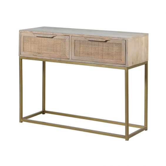 A luxurious vintage Scandinavian-inspired console table