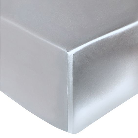 Silver grey silk fitted sheet