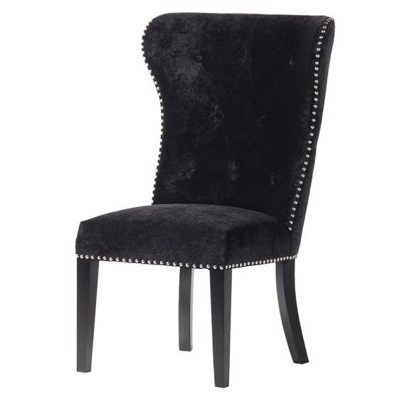 Black Chair With Lion Knocker