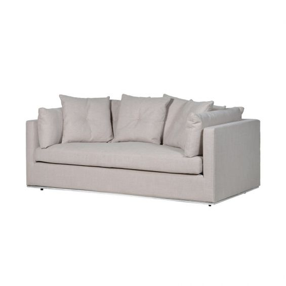 Luxury natural-toned polyester sofa