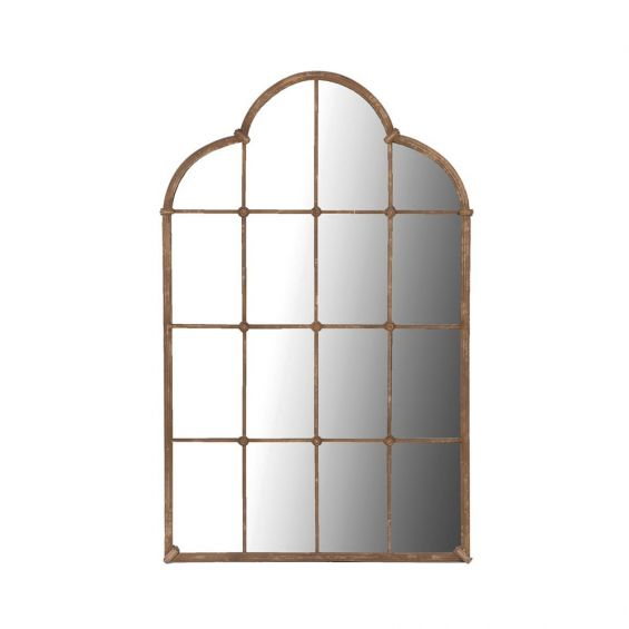 A stunning ancient-inspired galvanised steel mirror