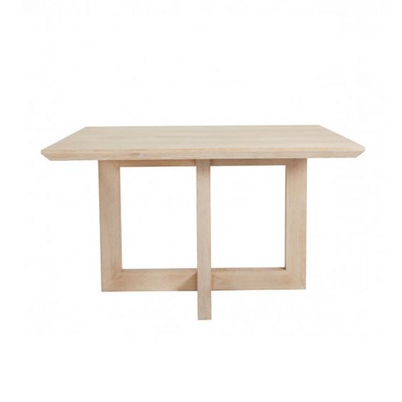 A luxurious natural whitewash oak square  dining tale