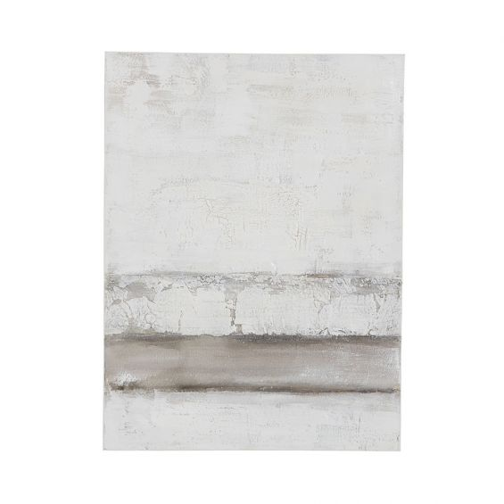 A stunning neutral-toned abstract acrylic painting