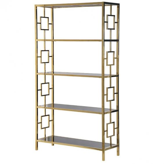 tall gold and black cabinet