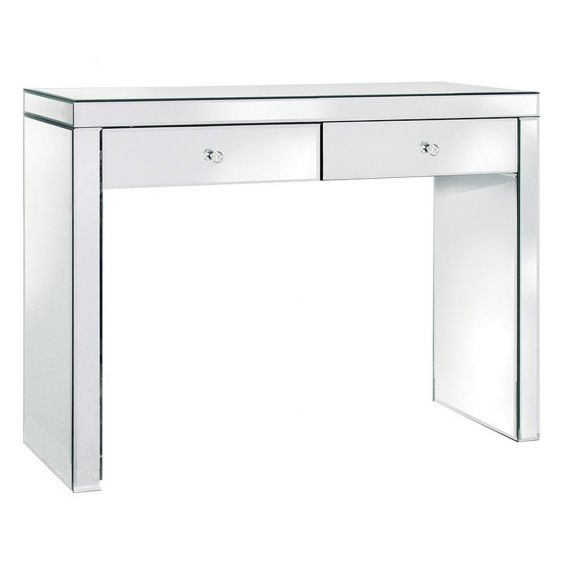 Mirrored glass console/dressing table