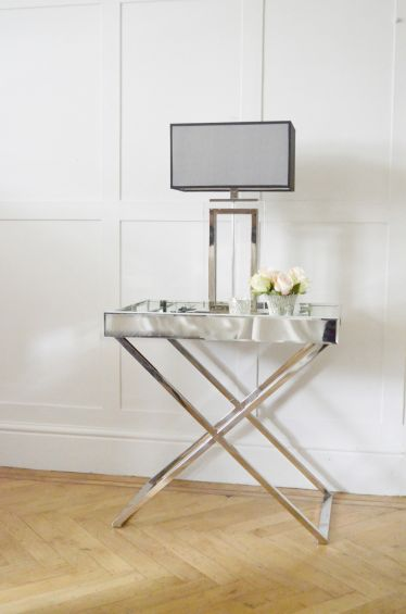 Frenchies Glamour Mirrored Side Table