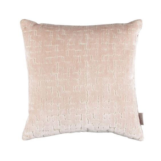 A luxuriously two-toned textured velvet cushion with a feather filler