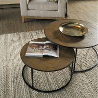 Amelie Round Coffee Table - Set of 2