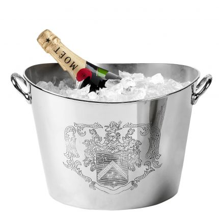 Luxury nickel champagne cooler